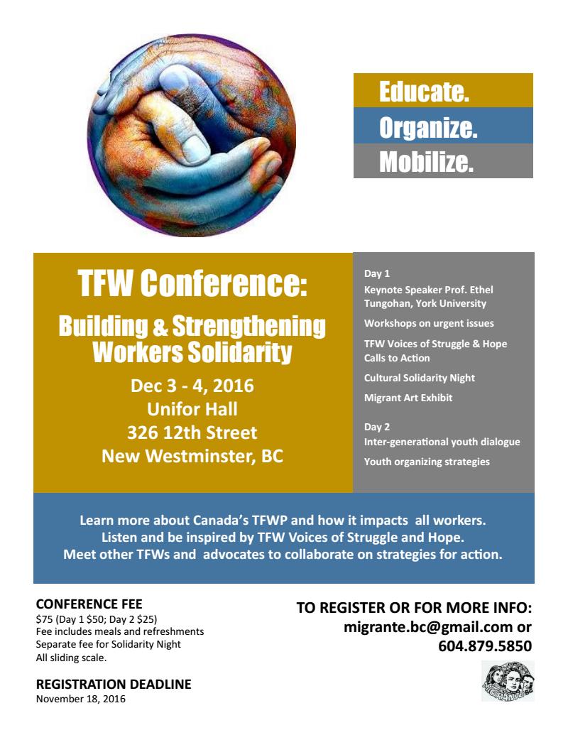 Migrante BC Conference 2016